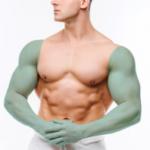 лазерная эпиляция мужчин - руки полностью